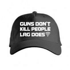 Кепка Guns don't kill people, lag does