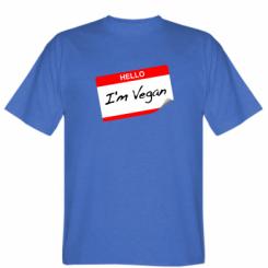Футболка Hello, I'm Vegan