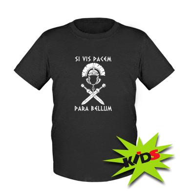 Купити Дитяча футболка Хочеш миру - готуйся до війни