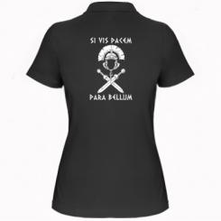 Купити Жіноча футболка поло Хочеш миру - готуйся до війни