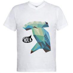 Чоловіча футболка з V-подібним вирізом Hola
