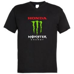 Купити Чоловічі футболки з V-подібним вирізом Honda Monster Energy