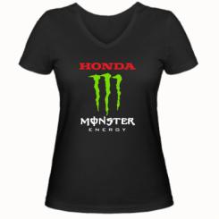 Купити Жіноча футболка з V-подібним вирізом Honda Monster Energy