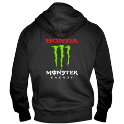 Купити Чоловіча толстовка на блискавці Honda Monster Energy
