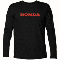 Футболка з довгим рукавом Honda напис
