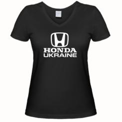 Купити Жіноча футболка з V-подібним вирізом Honda Ukraine