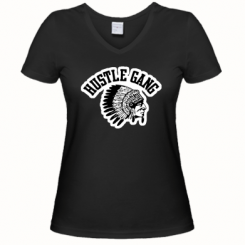 Купити Жіноча футболка з V-подібним вирізом Hustle Gung