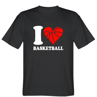 Футболка I love basketball