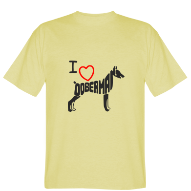Футболка I love doberman