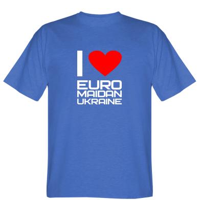Футболка I love Euromaydan Ukraine