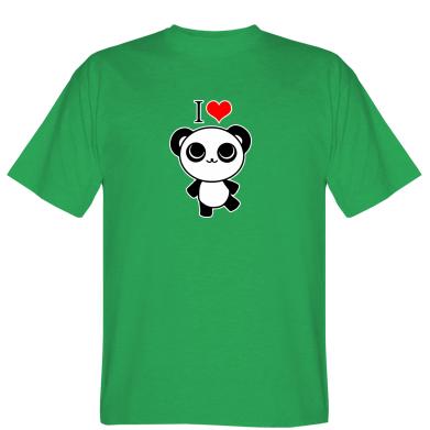 Футболка I love Panda
