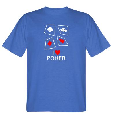 Футболка I love poker