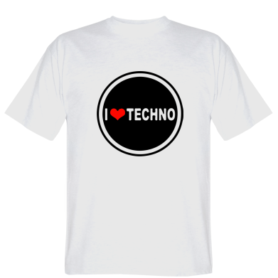 Футболка I love techno music