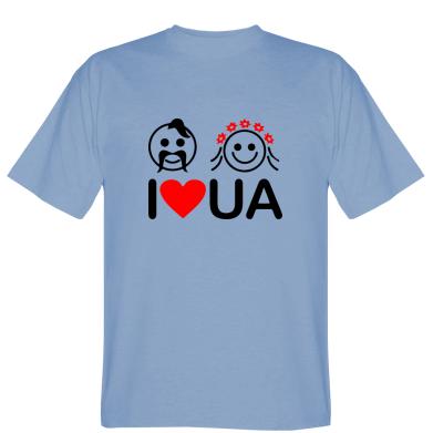 Футболка I love UA (козак з козачкою)