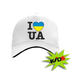 Дитяча кепка I love UA