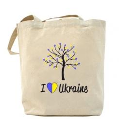Сумка I love Ukraine дерево