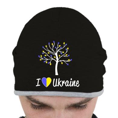 Купити Шапка I love Ukraine дерево