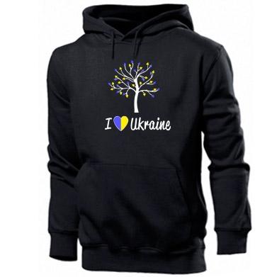 Купити Толстовка I love Ukraine дерево