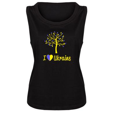 Купити Майка жіноча I love Ukraine дерево