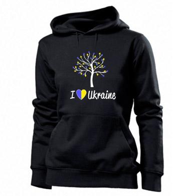 Купити Толстовка жіноча I love Ukraine дерево