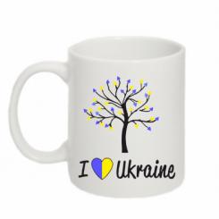Купити Кружка 320ml I love Ukraine дерево