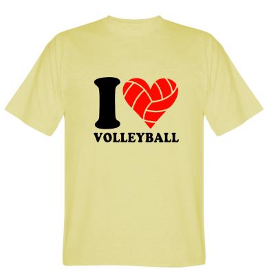 Купити Футболка I love volleyball