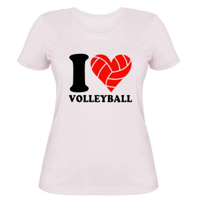 Купити Жіноча футболка I love volleyball