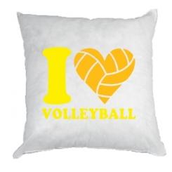 Купити Подушка I love volleyball