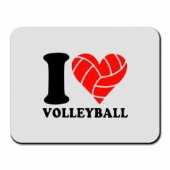 Купити Килимок для миші I love volleyball