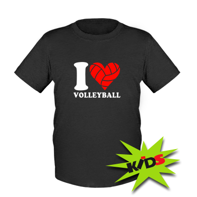 Купити Дитяча футболка I love volleyball
