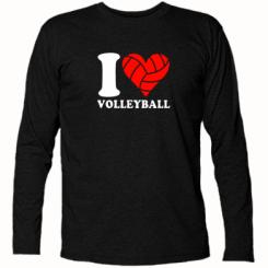 Купити Футболка з довгим рукавом I love volleyball
