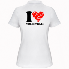 Купити Жіноча футболка поло I love volleyball