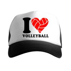 Купити Кепка-тракер I love volleyball