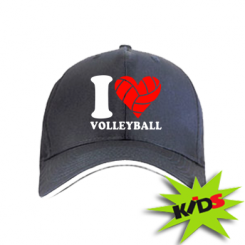 Дитяча кепка I love volleyball