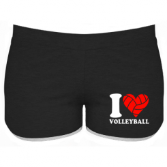 Купити Жіночі шорти I love volleyball