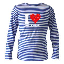 Купити Тільняшка з довгим рукавом I love volleyball