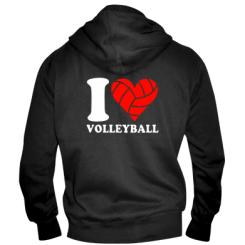 Купити Чоловіча толстовка на блискавці I love volleyball