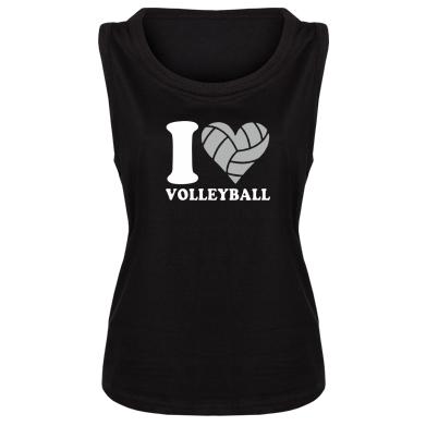 Майка жіноча I love volleyball