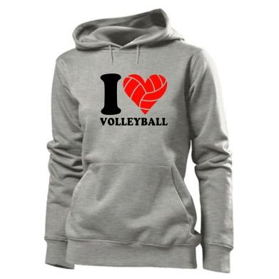 Купити Толстовка жіноча I love volleyball