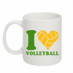 Кружка 320ml I love volleyball