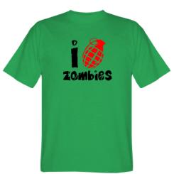 Футболка I love zombies