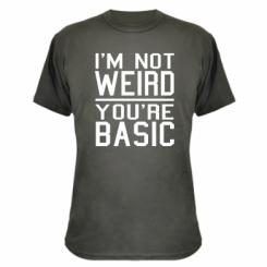 Камуфляжна футболка I'm not weird you're basic
