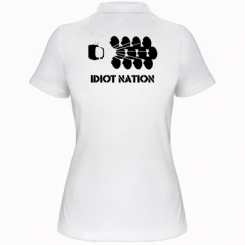 Жіноча футболка поло Idiot Nation