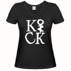 Купити Жіноча футболка з V-подібним вирізом Invincible tricking