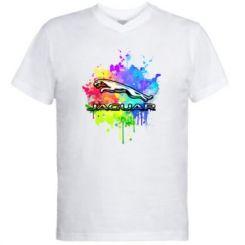 Чоловіча футболка з V-подібним вирізом Jaguar Art