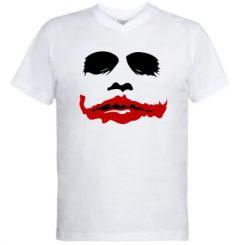 """Купити Чоловічі футболки з V-подібним вирізом """"Joker Face"""""""