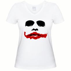 """Купити Жіноча футболка з V-подібним вирізом """"Joker Face"""""""