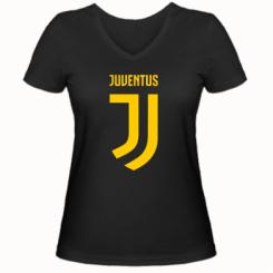 Жіноча футболка з V-подібним вирізом Juventus Logo