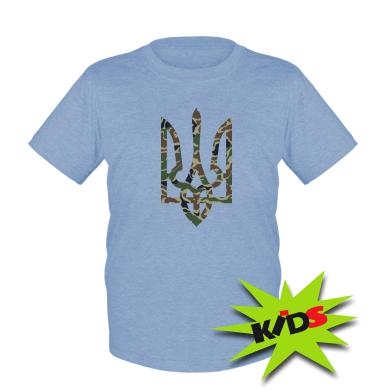 Купити Дитяча футболка Камуфляжний герб України