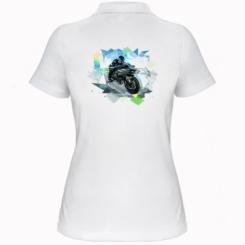 Жіноча футболка поло Kawasaki Ninja Art